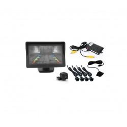 Αισθητήρες παρκαρίσματος με οθόνη και κάμερα – 4Χ – Μαύρο – Monitor Sensors