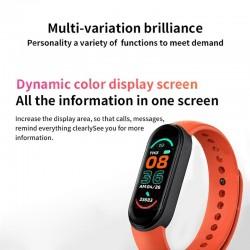M6 1.56 Full Screen Display Smart Bracelet Blood Oxygen Fitness Tracker Heart Rate Monitor Bluetooth Smart Band6