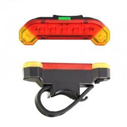 Επαναφορτιζόμενο Πίσω Φως LED για Ποδηλάτο - Usb Rechargeable Bicycle Tail Light
