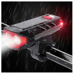 Επαναφορτιζόμενο Μπροστά Φως LED για Ποδηλάτο - Usb Rechargeable Front Solar 2 Led Light