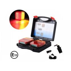 Ασύρματα LED Μαγνητικά Φώτα Ρυμουλκούμενου -Wireless Led Magnetic Trailer Lights 12V/24V