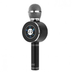Ασύρματο Bluetooth Mικρόφωνο KARAOKE Hχείο Mp3 Player WSTER - Disco Light Microphone 1920-01