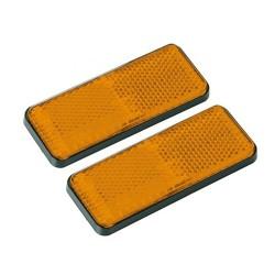 Ανακλαστικά Πλαστικά Αυτοκινήτου Φορτηγού σετ 4τμχ Κίτρινο AM-ANA220