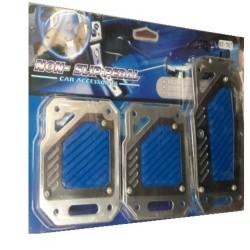 Αντιολισθητικά Πετάλ Αυτοκινήτου Μπλε σετ 3τμχ AM-ANT445