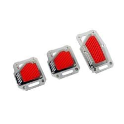 Αντιολισθητικά Πετάλ Αυτοκινήτου Κόκκινα σετ 3τμχ AM-ANTR45