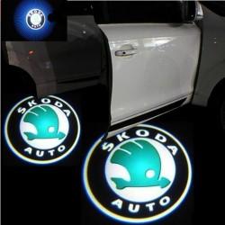 Φωτάκι Πόρτας με Λογότυπο Skoda σετ 2τμχ AM-FOT9113