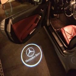 Φωτάκι Πόρτας με Λογότυπο Mercedes σετ 2τμχ AM-FOTJ113