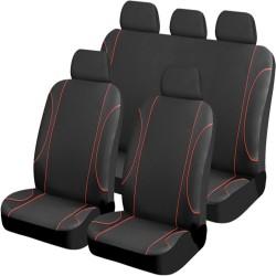 Καλύμματα Καθισμάτων Αυτοκινήτου Black Red Jazz 9τμχ AM-KALF24