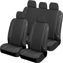 Καλύμματα Καθισμάτων Αυτοκινήτου Black Jazz 9τμχ AM-KALU24