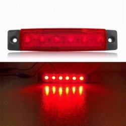 Led όγκου κόκκινο 12-24v - 1τμχ AM-LED5124