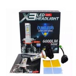 LED Λάμπες ZES (Philips) X3 LED 50W 6000LM H3 AM-LED527