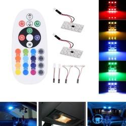 LED Λάμπες Πλαφονιέρας με κοντρόλ σετ 2 τεμάχια AM-LED693