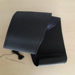 Ραφτό κάλυμμα τιμονιού χωρίς τρύπες-Δερματίνη Μαύρο 38cm AM-RAFT278
