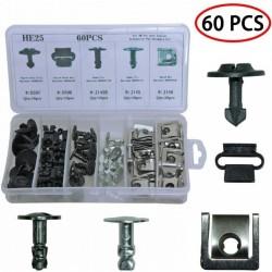 Σετ 60τμχ πλαστικά κουμπώματα και ασφάλειες μεταλλικές AM-SETU107