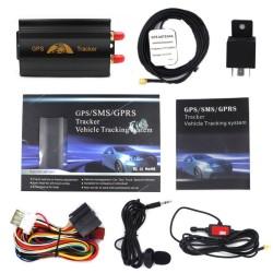 GPS Tracker εντοπισμού οχήματος με συναγερμό SOS 12v-24v AM-TK103B
