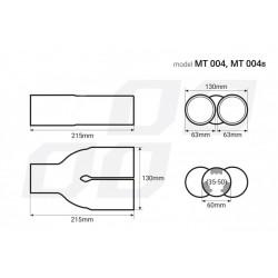 Universal Εξάτμιση Διπλό Τελικό Glossy Βlack Αmio AM-UNIE39