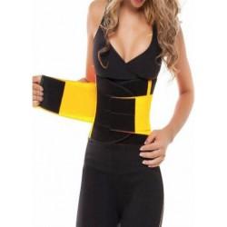 Ελαστικός κορσές μέσης ζώνη εφίδρωσης Hot Shapers Power Belt BLACK GY-Power Belt-B